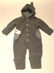 NEU GOTS Baby-Overall Wool Fleece MAXIMO Wolle Umklapp-Bündchen warm 62/68
