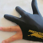Black Spandex Snooker Billiard Cue Glove Pool Left Hand Three Finger Accessory*1