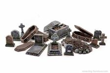 Graveyard kit - D&D, Malifaux, dwarven forge, dungeon decor, Frostgrave, rpg