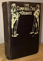 Antique CAMPBELL-RICE DEBATE Christian Baptism 1917 Reprint 1844 Rare 912 Pages