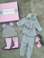 Design a friend doll clothes bundle/winter clothes with sparkly boots/accessorie