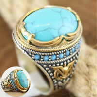 Ring Turquoise Wholesale Handmade 925 Jewelry Men Women Size 6-12 Silver Vintage