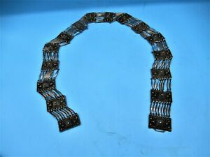 """Beautiful Vintage Women's Silver Concho Belt - Made In Mexico - Tested - 29"""""""
