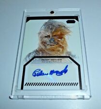 2012 Topps Star Wars Galactic Files PETER MAYHEW as CHEWBACCA Autograph Auto