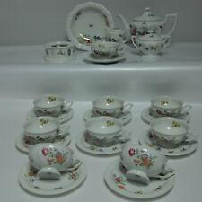 Rosenthal Maria Sommerstrauß Teeservice für 9 Pers.Porzellan weiß mit Blumen