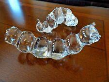 Pair of RFB Swedish Art Glass CATERPILLAR Inchworm Figurines Sweden