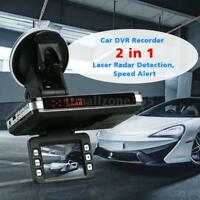 New 2 In 1 720P Car DVR Dash Cam Video Recorder Radar Speed Detector Camera X2H1