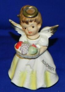 Vintage Nippon Yoko Boeki Japan November Birthday Angel Figurine