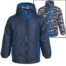 Rugged Bear Systems 3-in-1 Blue/Camo Winter Jacket Insulated, Boys size 4 NWT