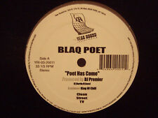 "BLAQ POET + DJ PREMIER - POET HAS COME / A MESSAGE FROM (12"")  2003!!!  RARE!!!"
