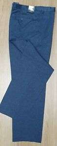 "MARKS & SPENCER Mens Regular Fit Navy Blue Polyester Trousers 44"" Wst 33"" I/L"