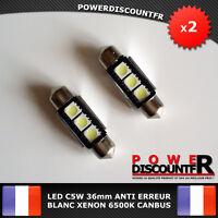 2 Ampoule Navette LED C5W 36mm ANTI SANS ERREUR CANBUS Plafonnier Plaque 6500k
