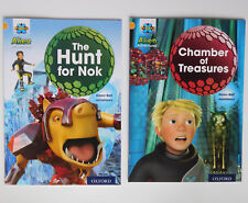 2 childrens books Chamber of Treasures Hunt for Nok Project X Alien Adventures