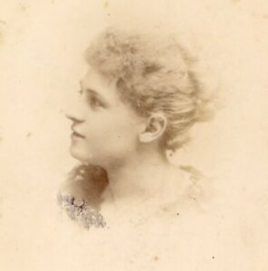 H W Macdonald Eton portrait lady cabinet photograph card cdv antique #57