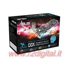 TARJETA DE SONIDO ASUS XONAR DGX 5.1 PCI 6 CANALI DOLBY SURROUND PC EXPRESS