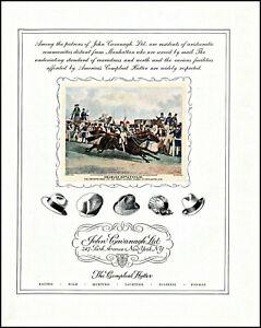 1931 Doncaster Horse Race 1838 John Cavanagh Men's Hats vintage art print ad XL2