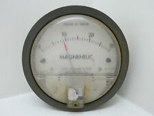 MAGNEHELIC GAUGE WATER 4+3/4 INCH METER GUAGE STEAM PUNK (#2194)