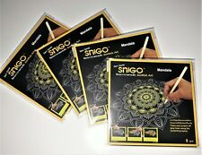 SNIGO 8 x Beautiful Scratch Painting Art 200 x 200 mm: Fun & Relax for All Ages