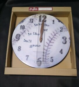 "FIRSTIME RESTORATION COLLECTION BASEBALL 12"" WALL CLOCK - NEW"