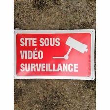 PLAQUE ALU 5/10 SITE SOUS VIDEO SURVEILLANCE - 330x200 mm NEUF !!
