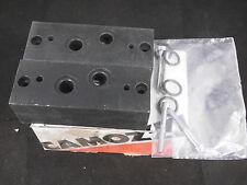 2x Camozzi Pneumatik Block 901-N1S01 / 901-N1S01 (N.2) NEU OVP