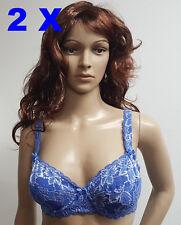 2 x BH Under & Over Fashion Blau 75 E mit Bügel und Spitze