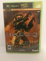 Halo 2 Two Microsoft Xbox 2002 Tested Working game w/ case ship fast vintage