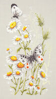 Cross Stitch Kit In a camomile glade (butterfly)