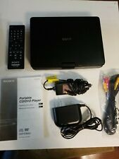 "Sony 9"" PORTABLE DVD/CD PLAYER DVP-FX950 w Remote,AC &Car Adapters,RCA Cable Man"