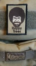 Bob Ross  Morale Patch Tactical Military Army USA Flag Funny badge hook