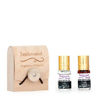 Ambrosial Gift Set 3ml X 2 Attar Black Musk White Oud 100% Natural Perfume Oil
