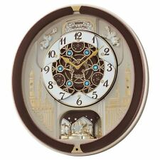 Seiko QXM291B Brown Analogue Musical Melodies in Motion Antique Wall Clock New