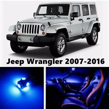 10pcs LED Blue Light Interior Package Kit for Jeep Wrangler