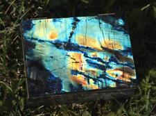 Exceptionally Bright Multicolor Spectrolite Jewelry Casket Storage Box