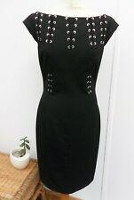 Karen Millen Dinner Party Office Pencil Dress Cap Sleeve Size 12
