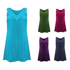 Women's Sleeveless V-Neck Tank Top Plus Size Casual Solid Color Blouse Splendid