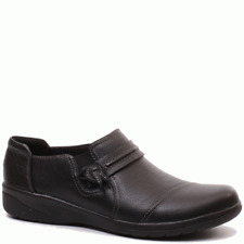Clarks Women's Cheyn Madi Loafer Black Tumbled Leather 11 M US
