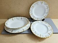 ROYAL CROWN DERBY ''VINE'' LOT OF PLATES, OVAL PLATTER, OVAL SERVING BOWL