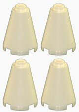 Missing Lego Brick 3942b White x 4 Cone 2 x 2 x 2 with Hollow Stud