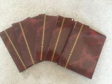 Five burgundy slip-in photo albums 7 x 5 inches