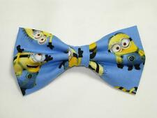 (1) PRE-TIED BOW TIE - DESPICABLE ME - 1 IN A MINION! POPULAR MINIONS ON BLUE