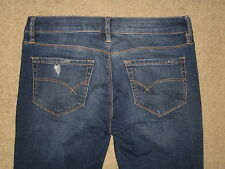 Bullhead Size 7 Short Slim Boot Destroyed Stretch Denim Low Rise Womens Jeans