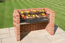 BLACK Knight Extra Large Mattone BARBECUE KIT 112 x 39 & riscaldamento rack (5 Brick) dì 801