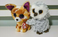 TY BEANIE BOOS OWLETTE AND PABLO OWL AND FOX TOYS