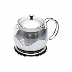 Le Xpress Stainless Steel 5 Cup Glass Teapot Herbal Infuser Kitchen Gadget Gift