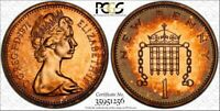 1971 GREAT BRITAIN ONE 1 PENNY PCGS PR66RD BEAUTIFUL & TONED HIGH GRADE COIN