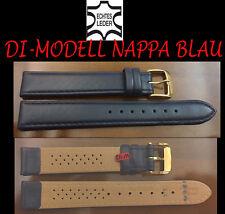 di-modell Reloj De Pulsera piel auténtica Napa Azul 16mm MUY BUENA CALIDAD NUEVO