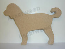 Labradoodle dog shape in MDF (120mm x 18mm thick)/Wooden blank craft shape