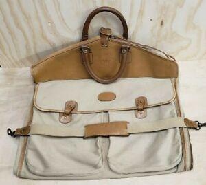 Vintage Ghurka No 12 Marley Hodgson Garment Bag twill leather