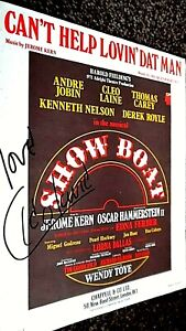 CAN'T HELP LOVIN' DAT MAN: SHOW BOAT MUSICAL THEME (AUTOGRAPHED BY CLEO LAINE)
